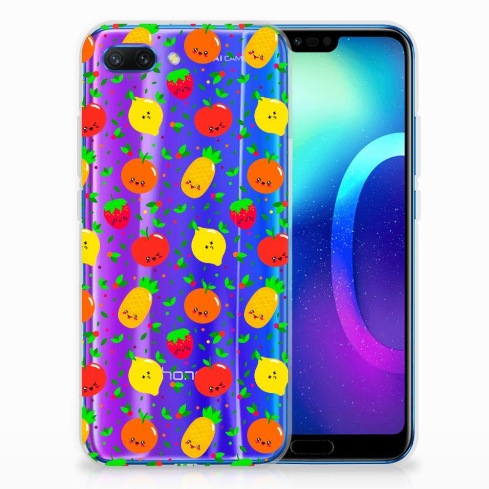 Huawei Honor 10 TPU Hoesje Design Fruits
