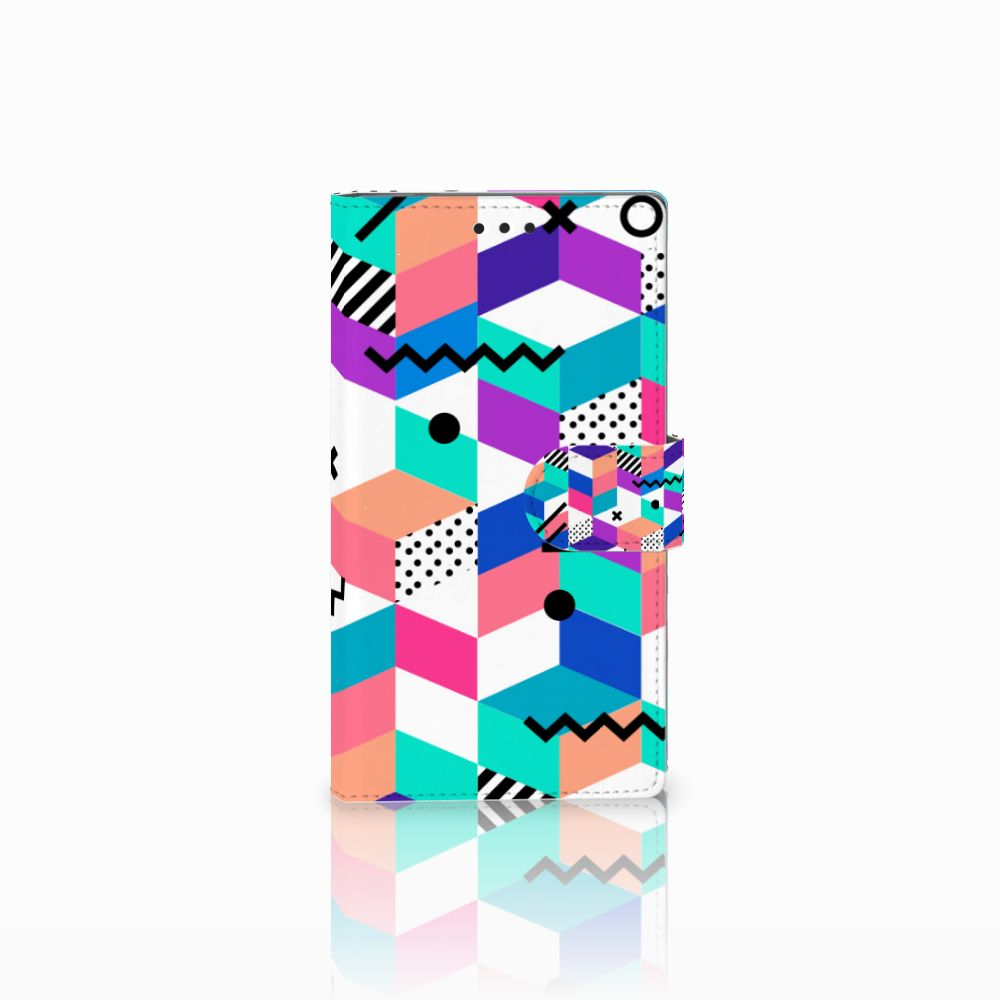 Sony Xperia L2 Bookcase Blokken Kleurrijk