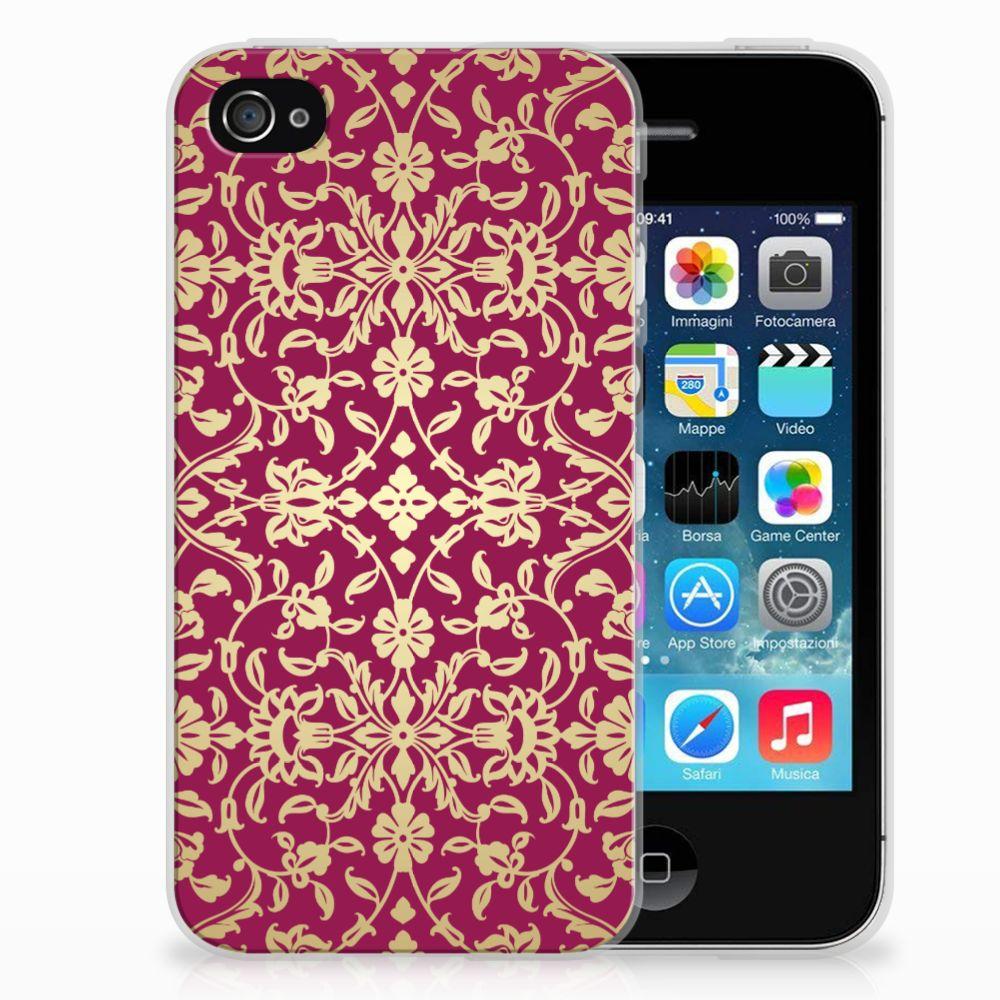Apple iPhone 4 | 4s TPU Hoesje Design Barok Pink