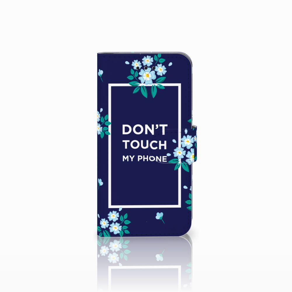 Apple iPhone X | Xs Boekhoesje Flowers Blue DTMP