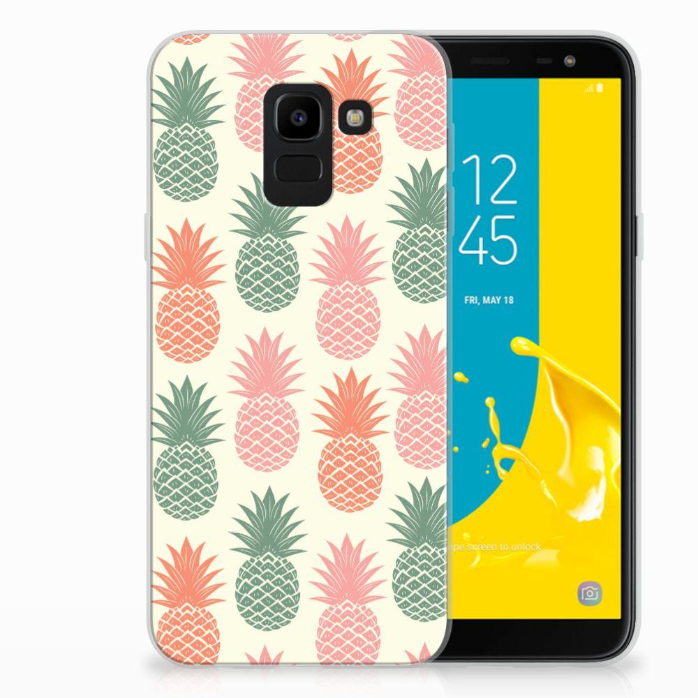 Samsung Galaxy J6 2018 TPU Hoesje Design Ananas