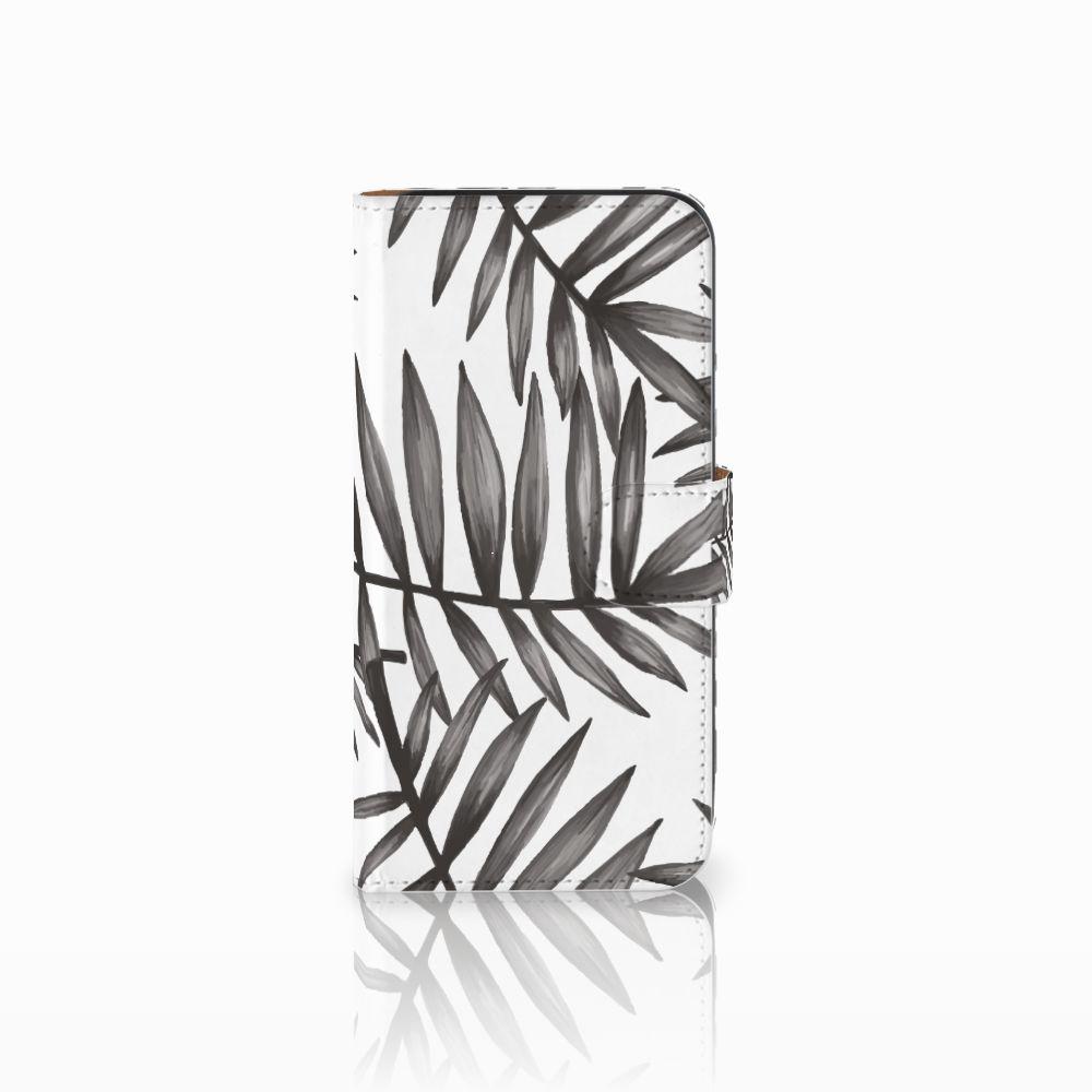 Samsung Galaxy E5 Uniek Boekhoesje Leaves Grey