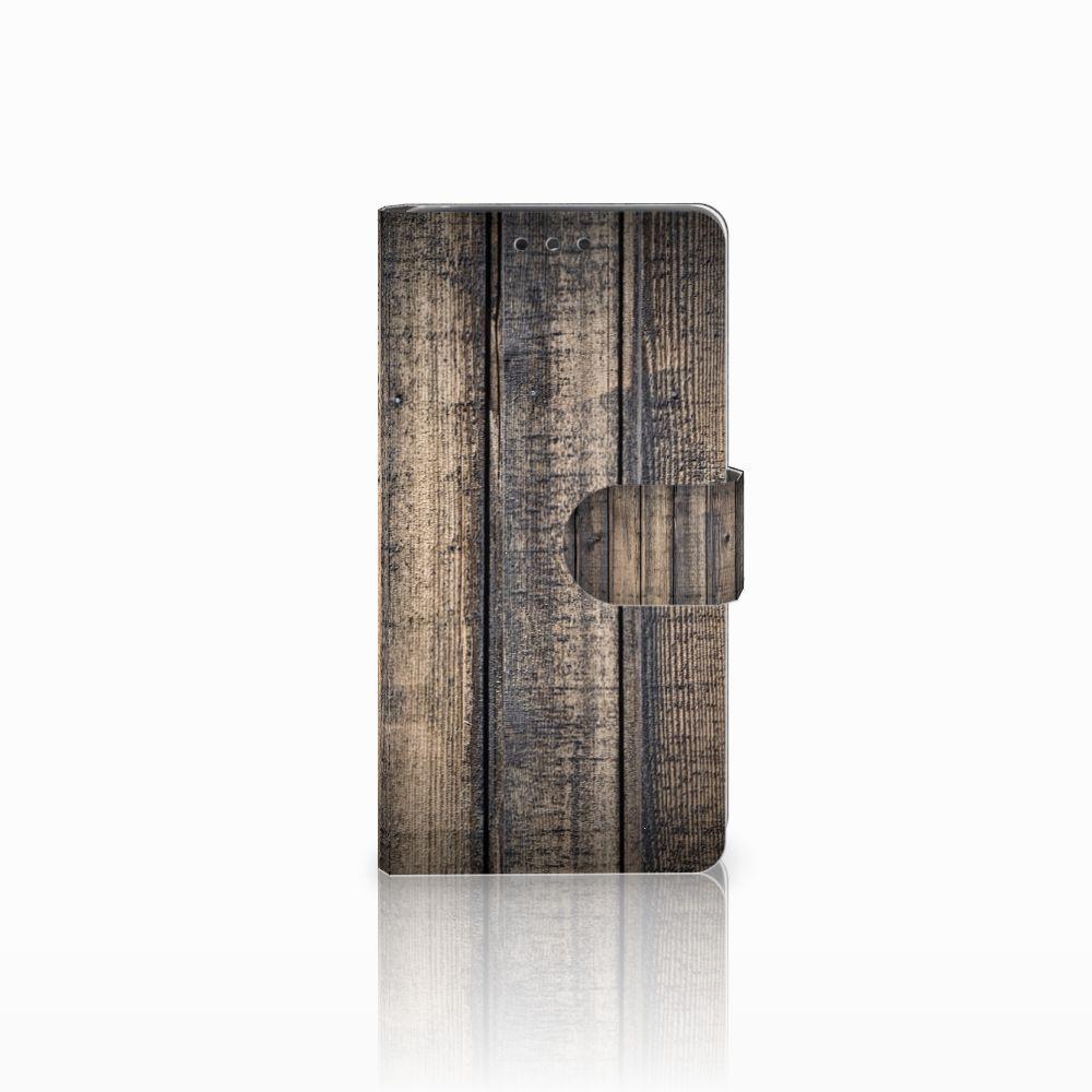 LG Bello 2 Boekhoesje Design Steigerhout