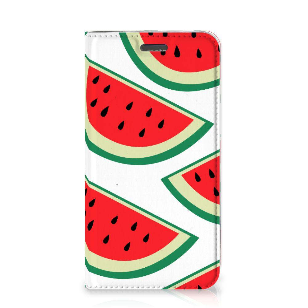 Motorola Moto C Plus Flip Style Cover Watermelons