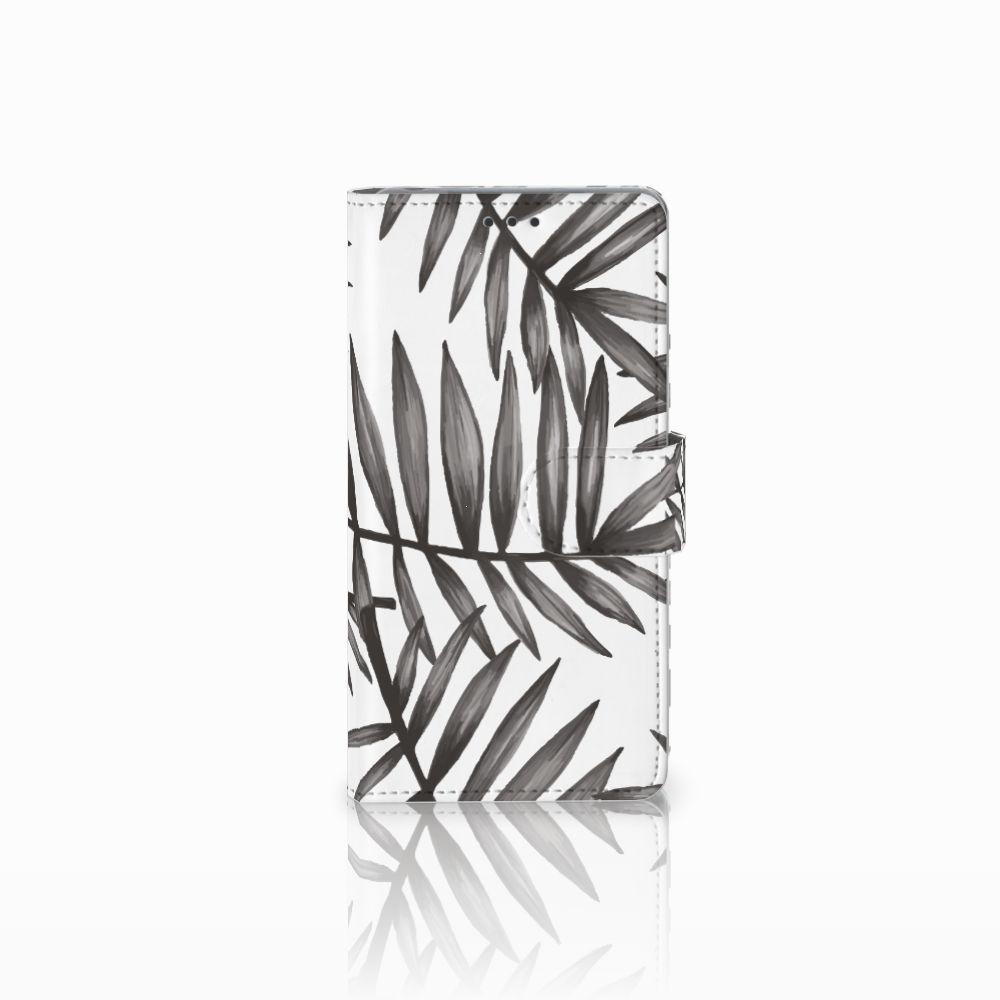 Sony Xperia Z Uniek Boekhoesje Leaves Grey