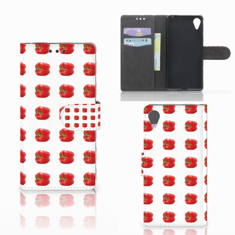 Sony Xperia X Performance Book Cover Paprika Red