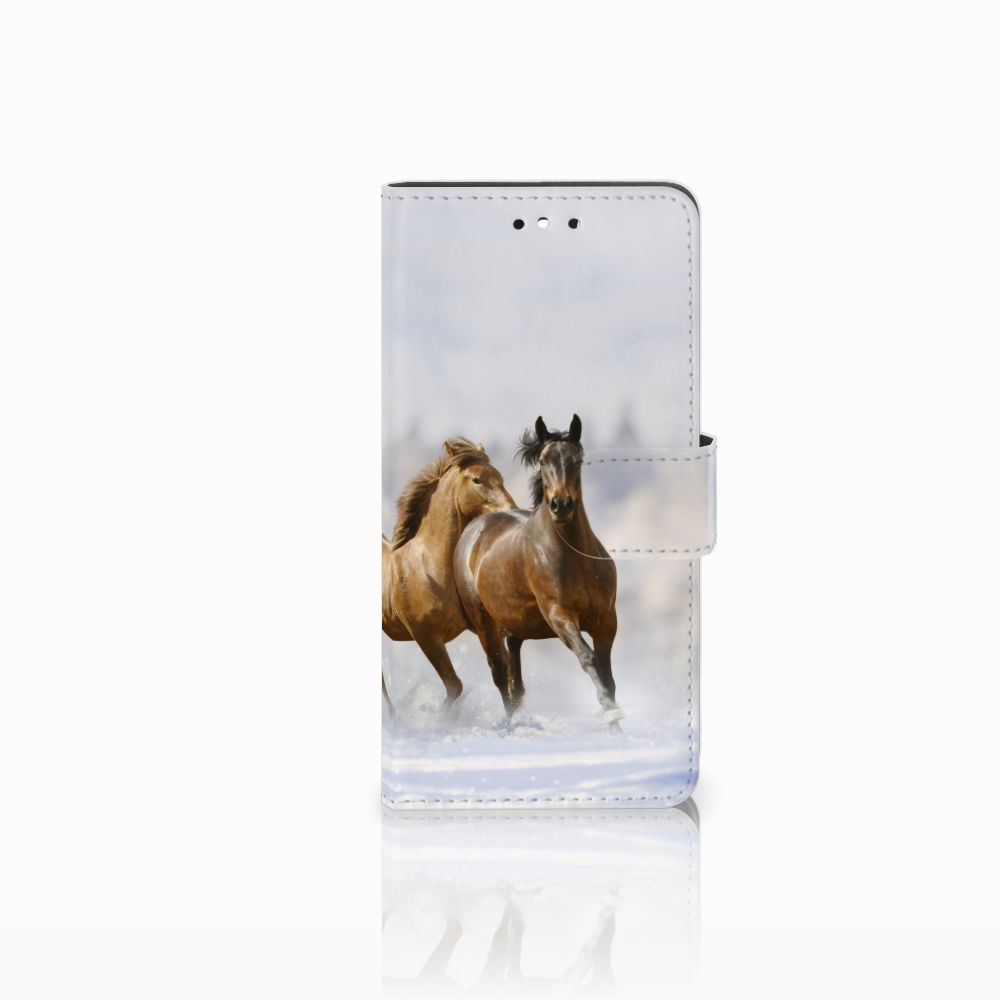Huawei P8 Lite Smart (GR3) Uniek Boekhoesje Paarden