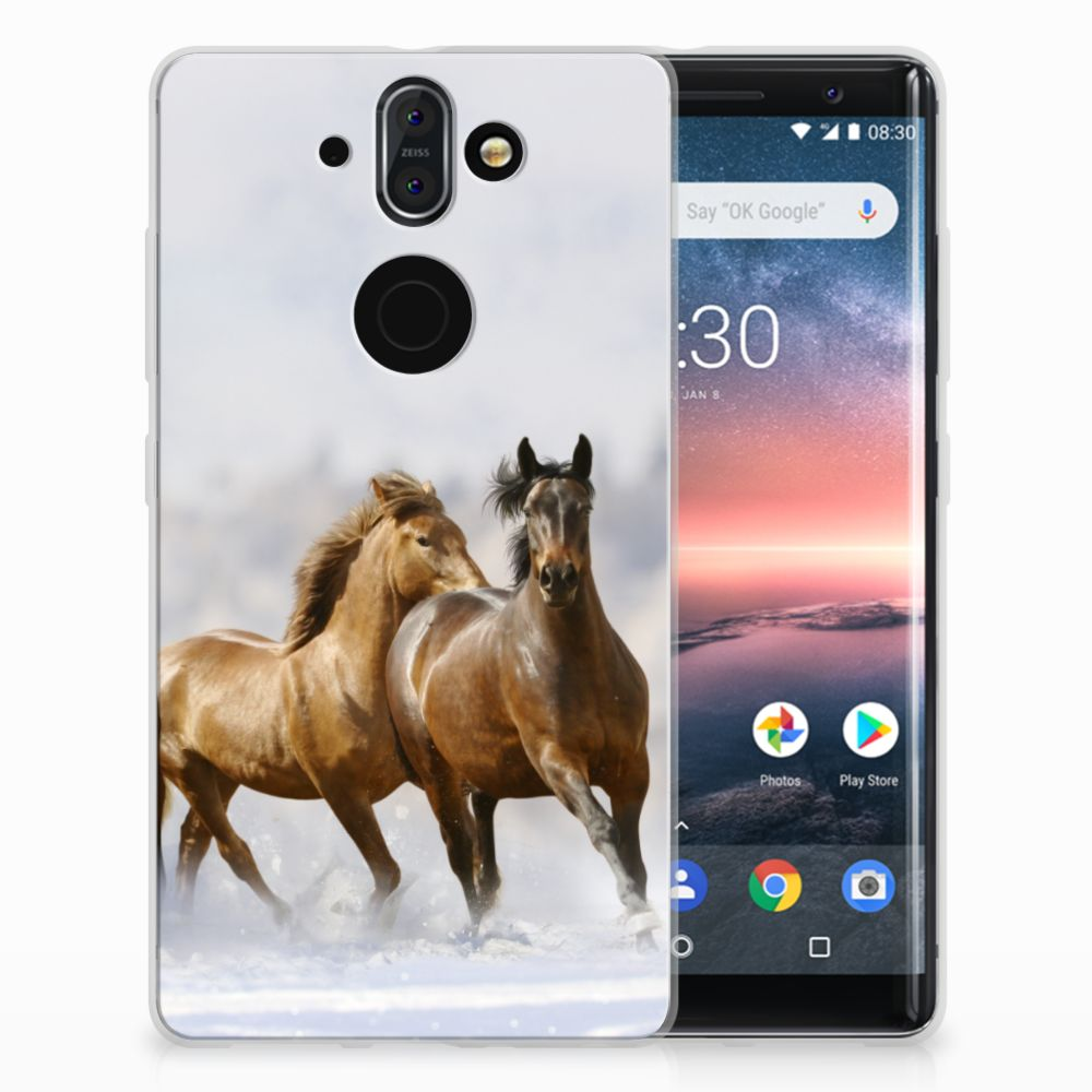 Nokia 9 | 8 Sirocco Uniek TPU Hoesje Paarden