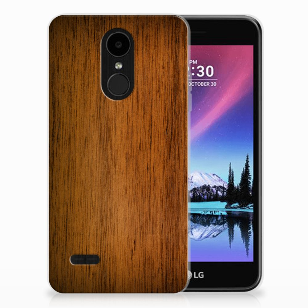 LG K4 (2017) Uniek TPU Hoesje Donker Hout