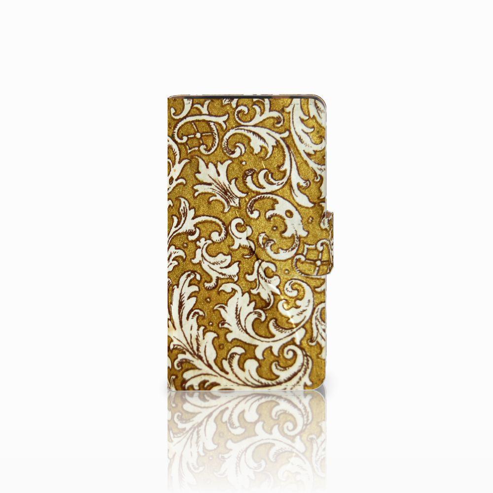 HTC Desire 601 Boekhoesje Design Barok Goud
