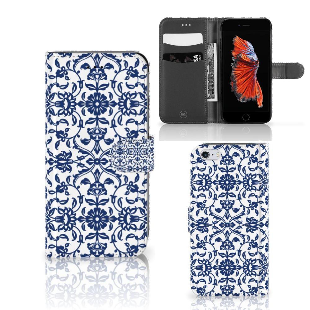 Apple iPhone 6 Plus | 6s Plus Hoesje Flower Blue
