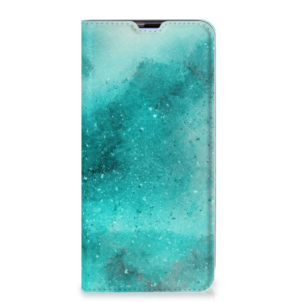 Bookcase Samsung Galaxy A51 Painting Blue