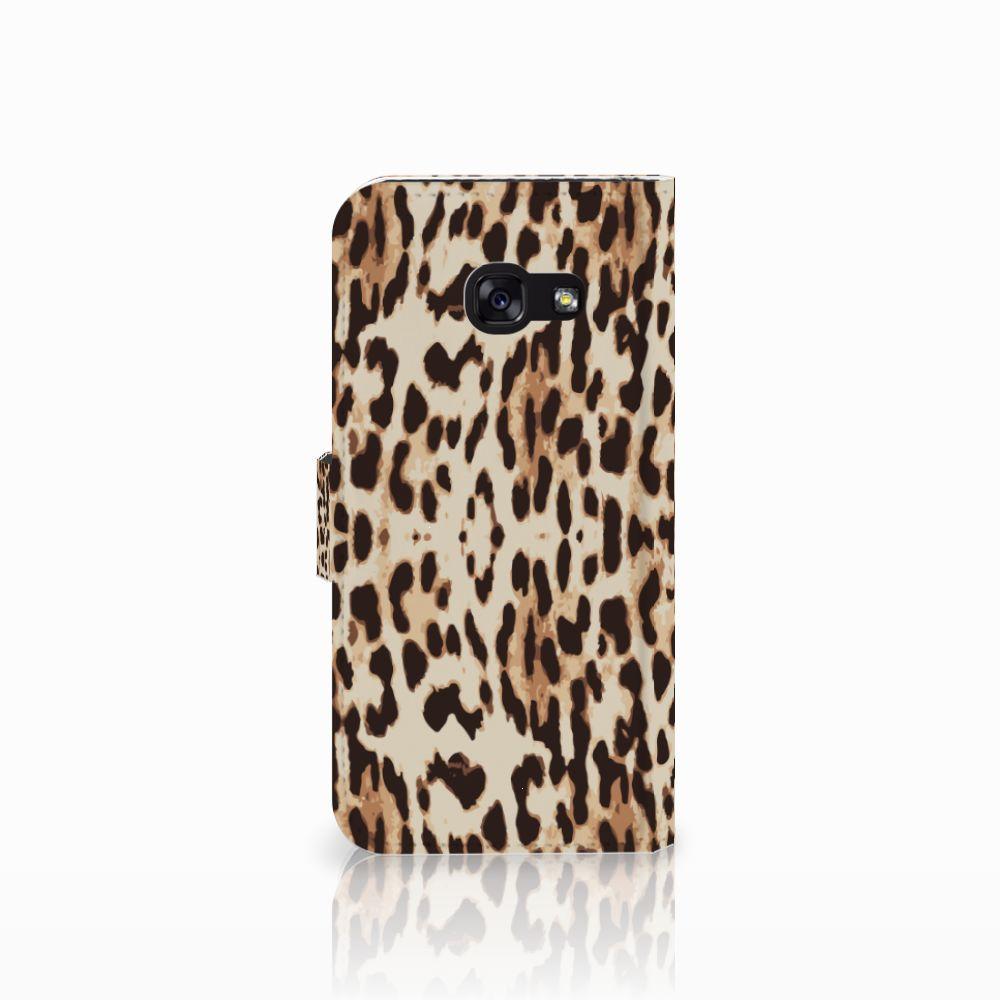 Samsung Galaxy A5 2017 Telefoonhoesje met Pasjes Leopard