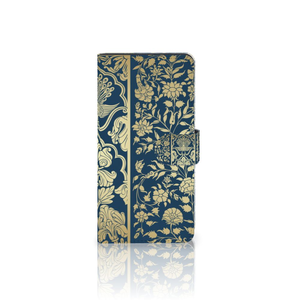 Samsung Galaxy A7 (2018) Uniek Boekhoesje Golden Flowers