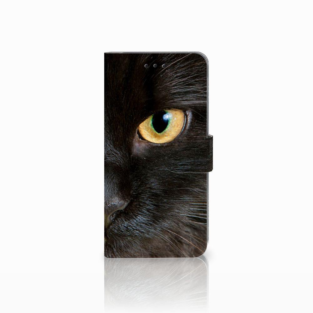 Samsung Galaxy A6 Plus 2018 Uniek Boekhoesje Zwarte Kat
