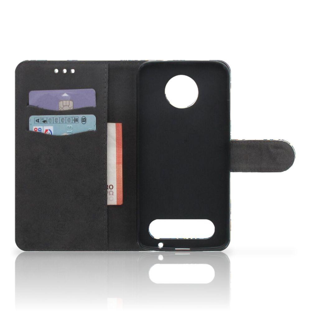 Wallet Case Motorola Moto Z2 Force Barok Flower