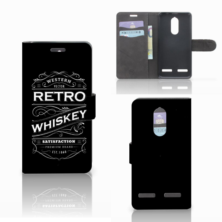 Lenovo K6 Book Cover Whiskey