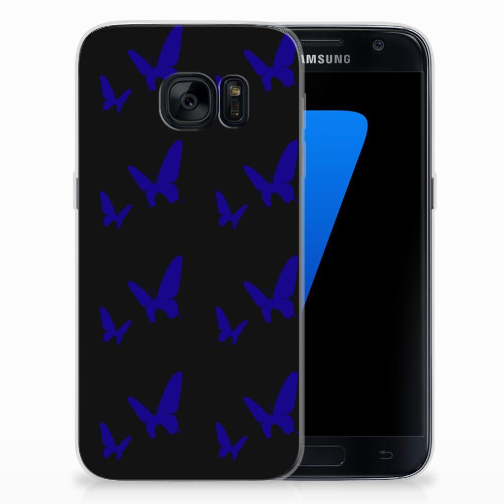 Samsung Galaxy S7 TPU bumper Vlinder Patroon