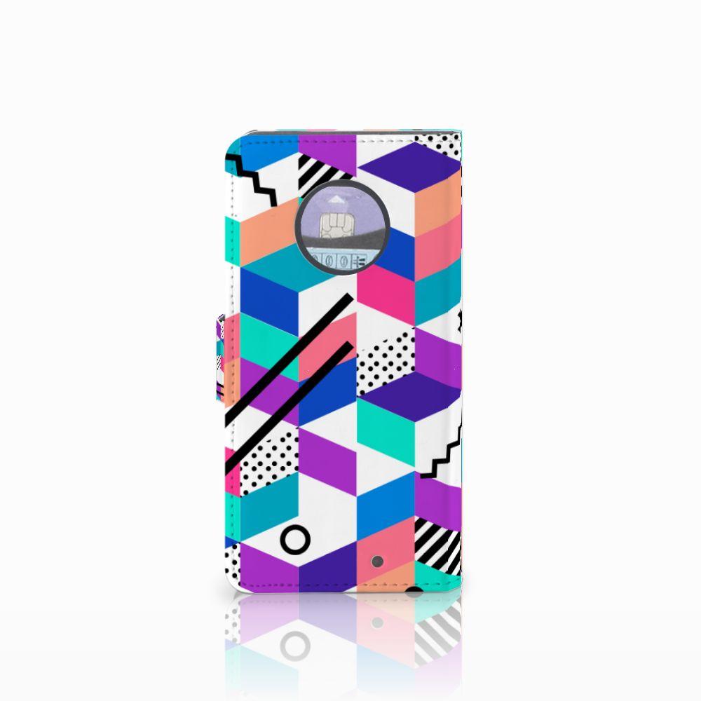 Motorola Moto X4 Bookcase Blokken Kleurrijk