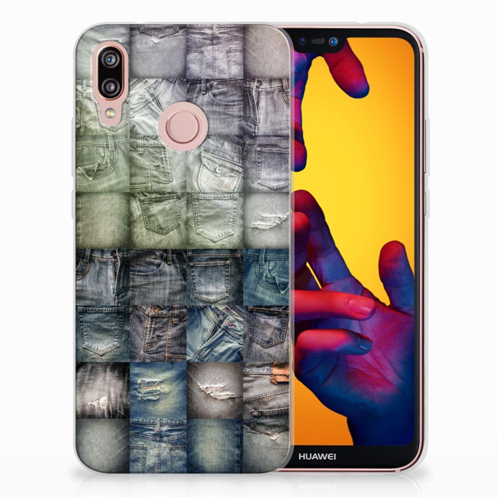 Huawei P20 Lite Uniek TPU Hoesje Spijkerbroeken