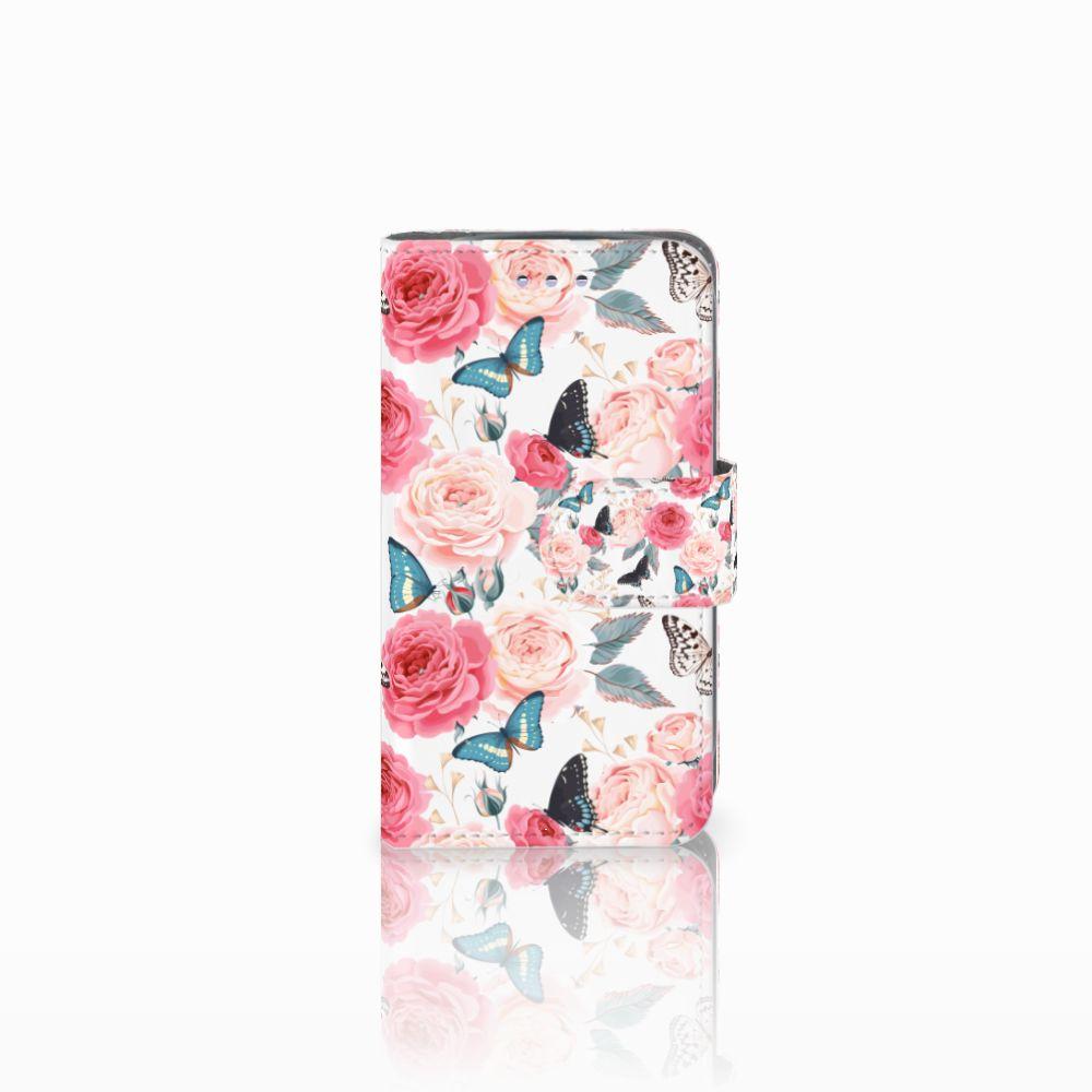 Samsung Galaxy S3 Mini Uniek Boekhoesje Butterfly Roses