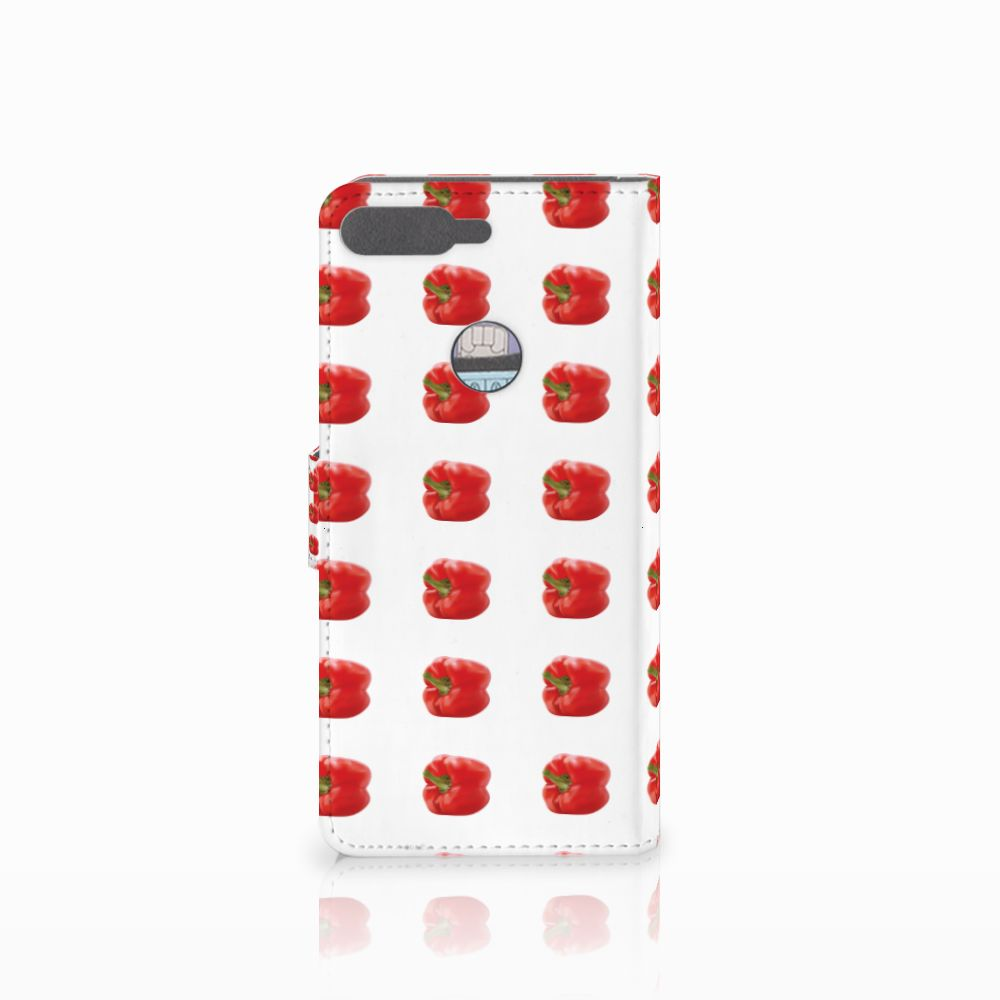 Huawei Y7 2018 Book Cover Paprika Red