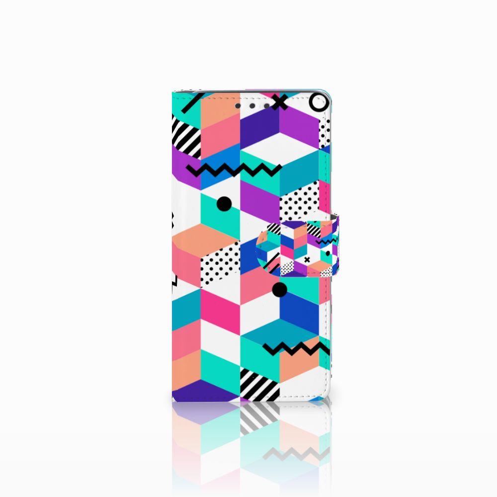 HTC Desire 626   Desire 626s Boekhoesje Design Blocks Colorful