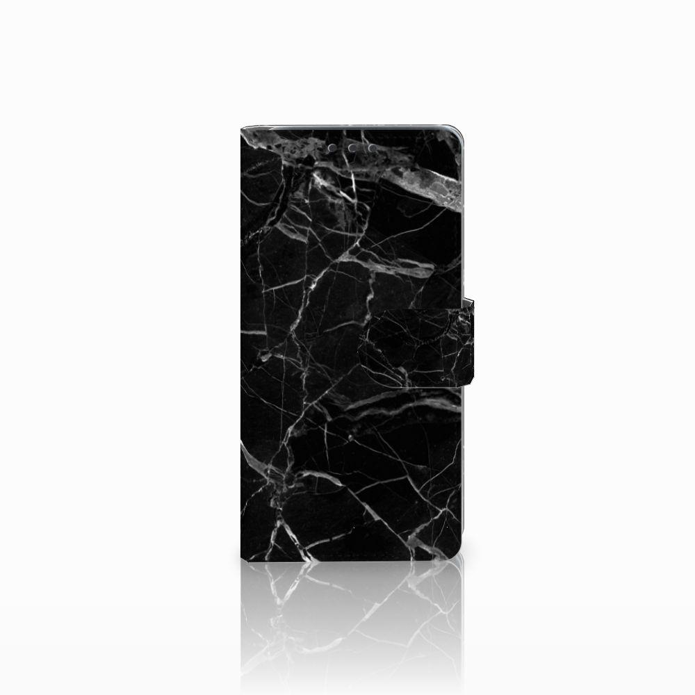 HTC Desire 626 | Desire 626s Uniek Boekhoesje Marmer Zwart