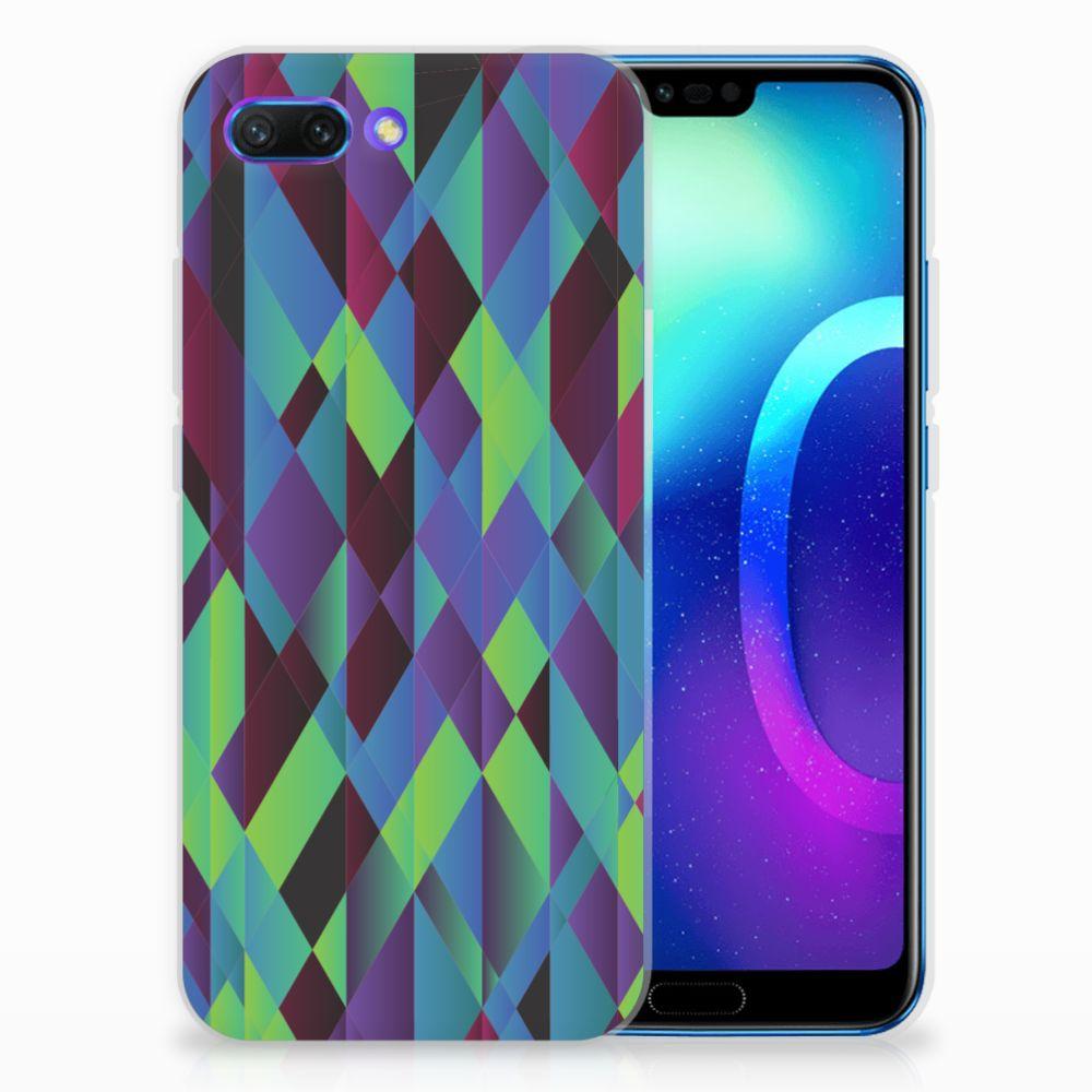 Huawei Honor 10 TPU Hoesje Abstract Green Blue