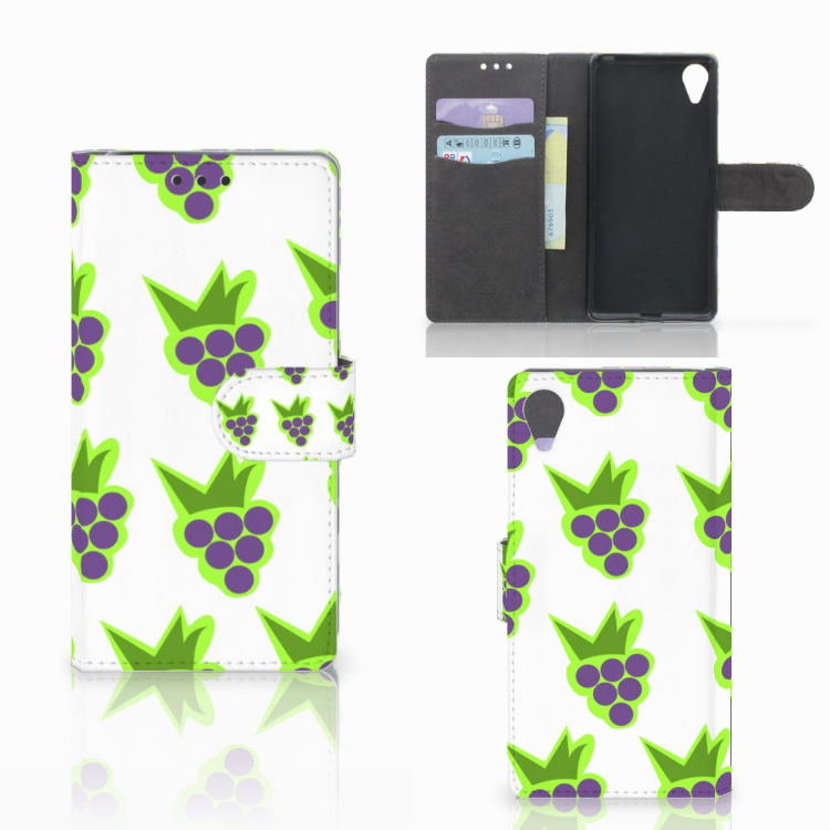 Sony Xperia X Performance Book Cover Druiven