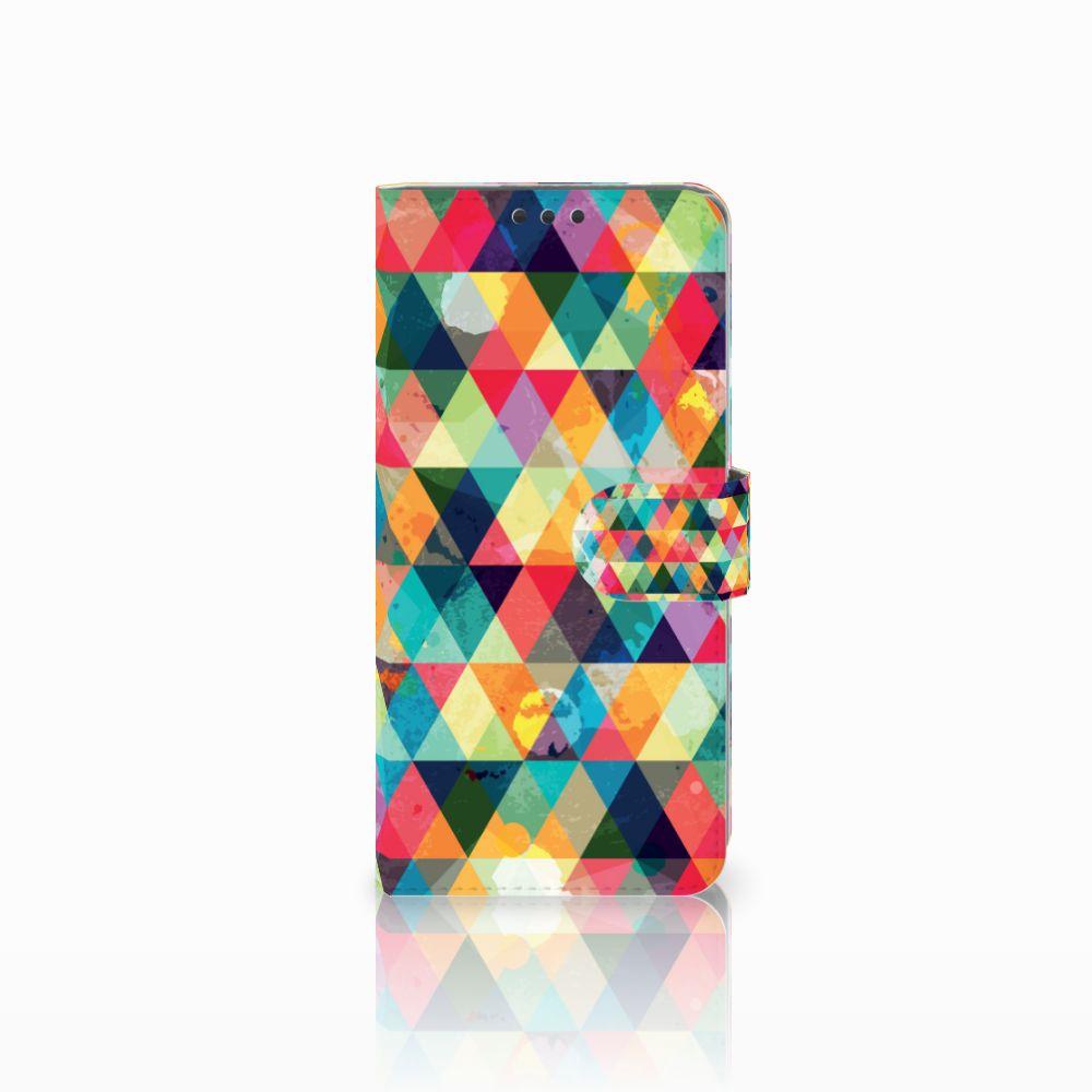 Sony Xperia Z5 Premium Uniek Boekhoesje Geruit