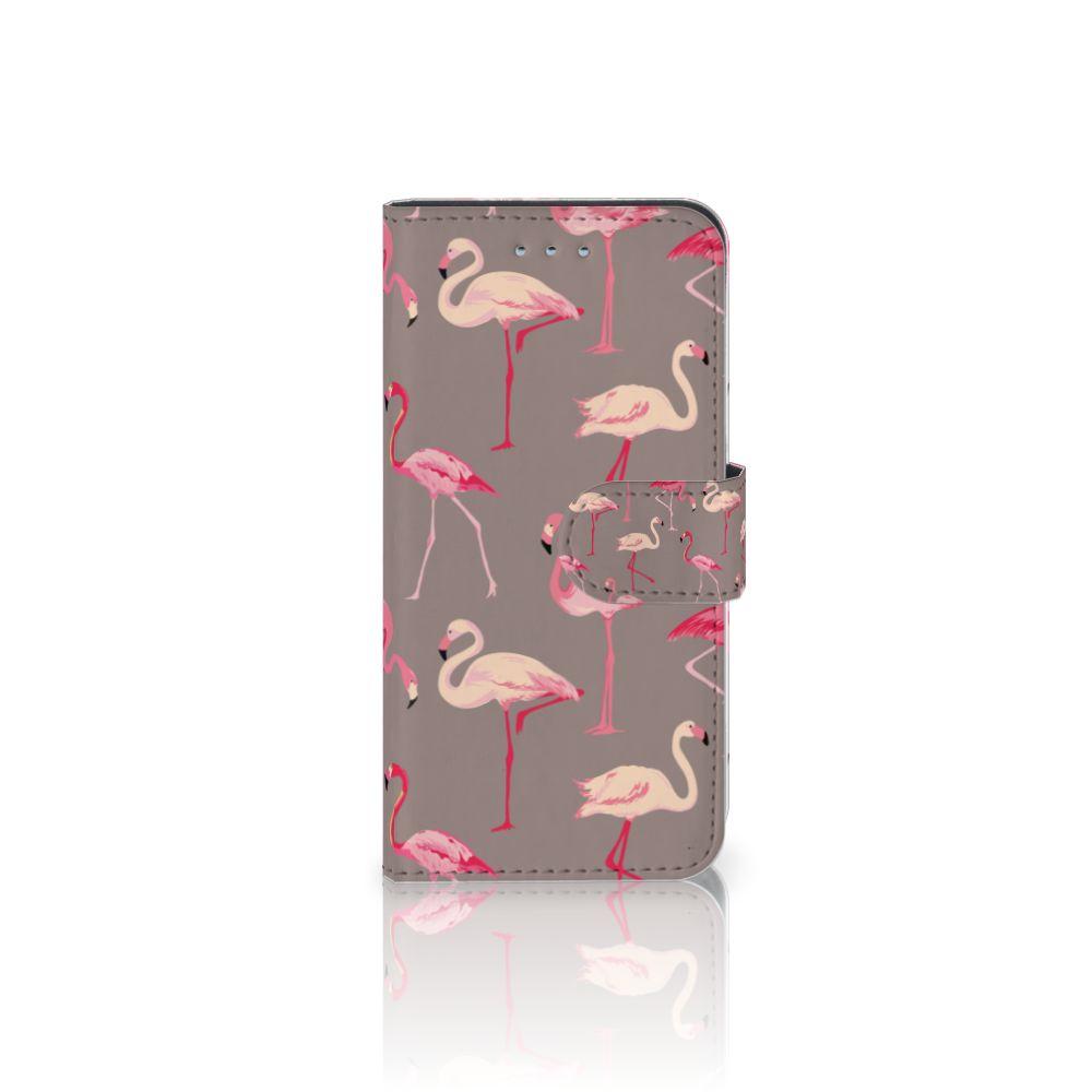Samsung Galaxy S6 | S6 Duos Uniek Boekhoesje Flamingo