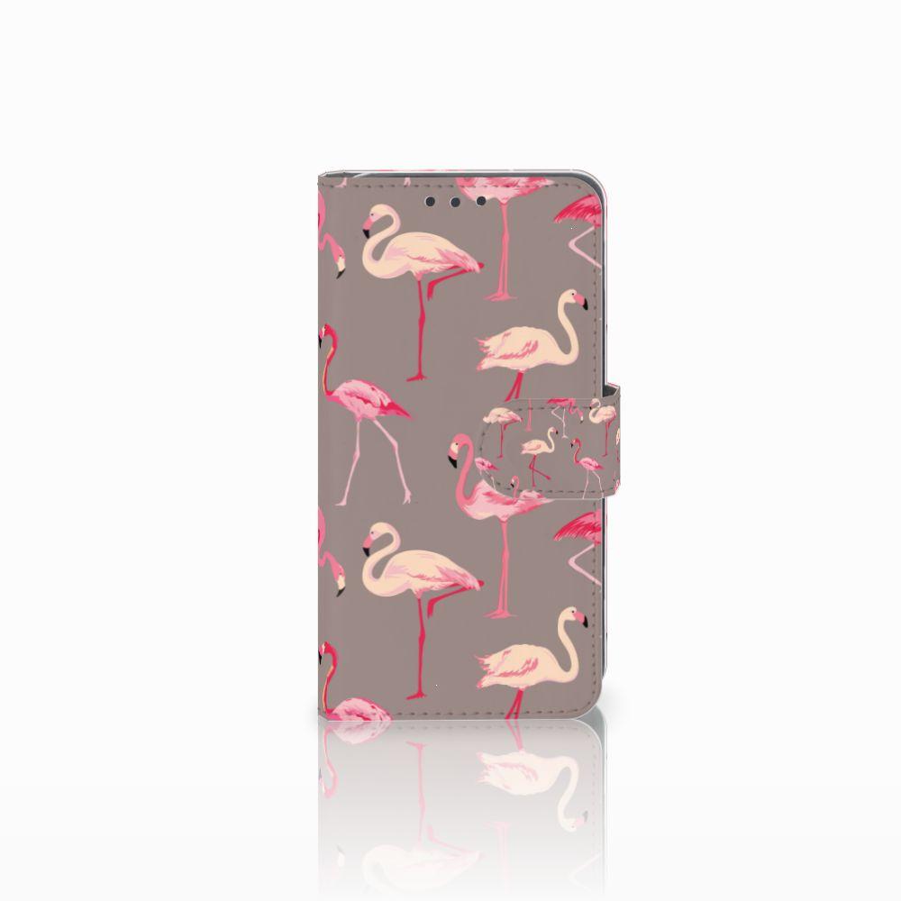 Huawei Y5 2 | Y6 II Compact Telefoonhoesje met Pasjes Flamingo
