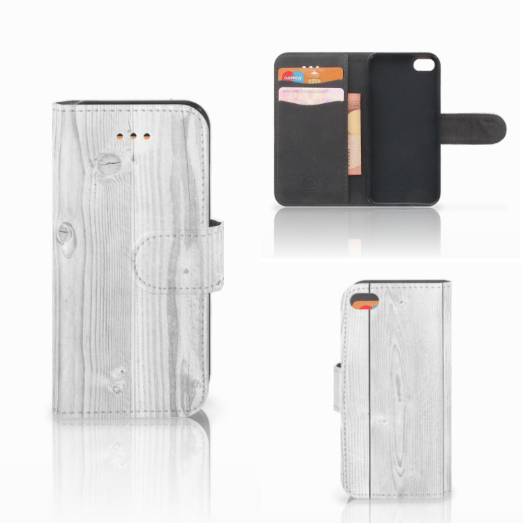 Apple iPhone 5C Book Style Case White Wood