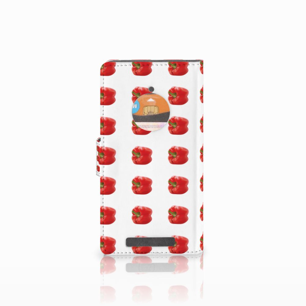 Nokia Lumia 830 Book Cover Paprika Red