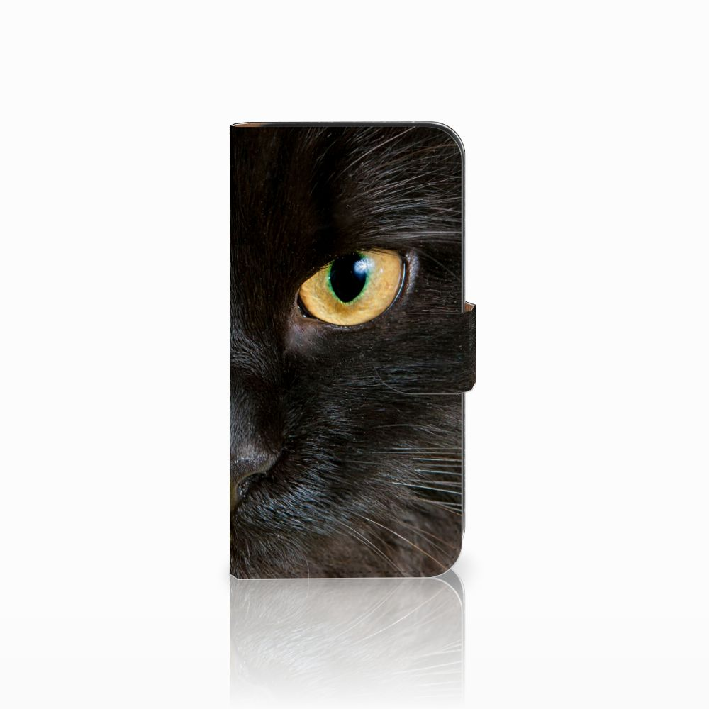 Samsung Galaxy E5 Uniek Boekhoesje Zwarte Kat