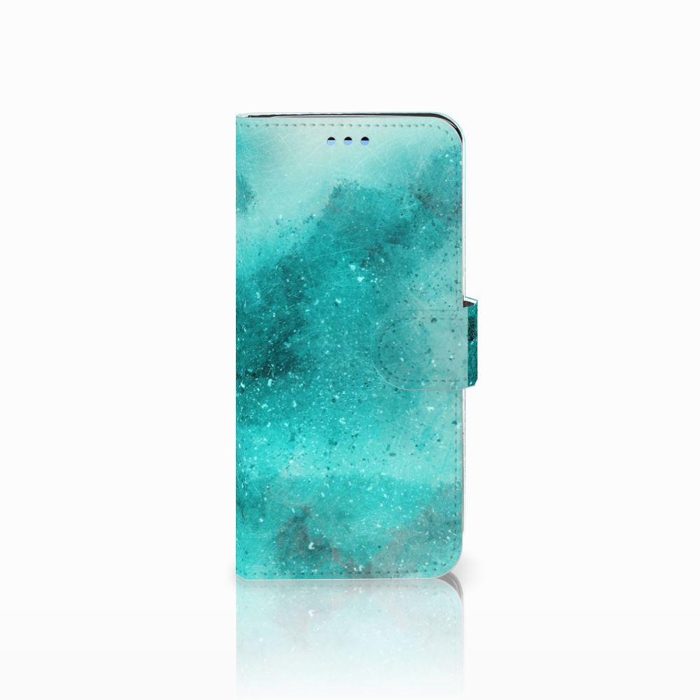 Samsung Galaxy S9 Uniek Boekhoesje Painting Blue