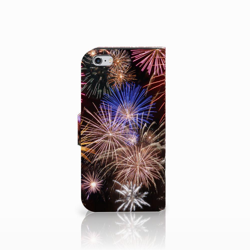 Apple iPhone 6   6s Wallet Case met Pasjes Vuurwerk