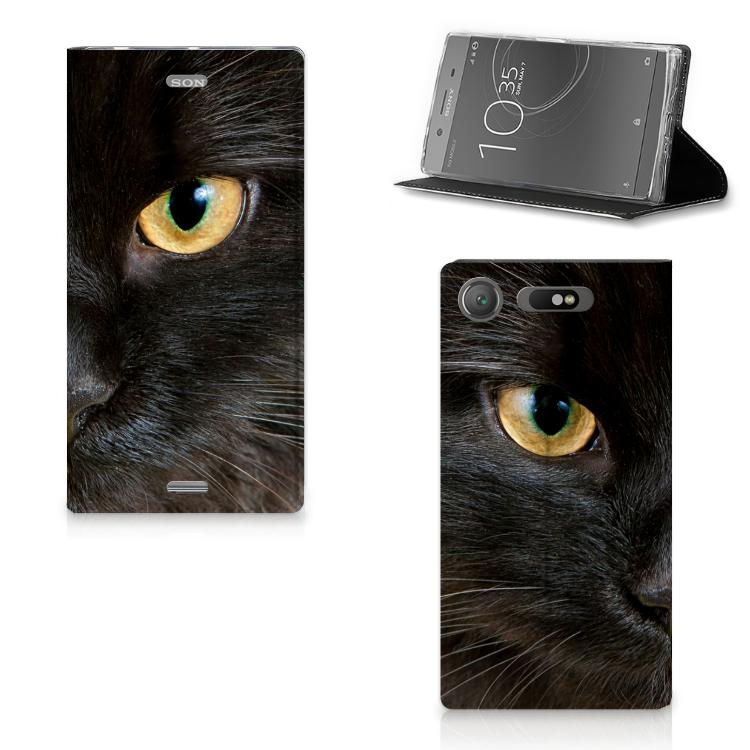 Sony Xperia XZ1 Hoesje maken Zwarte Kat