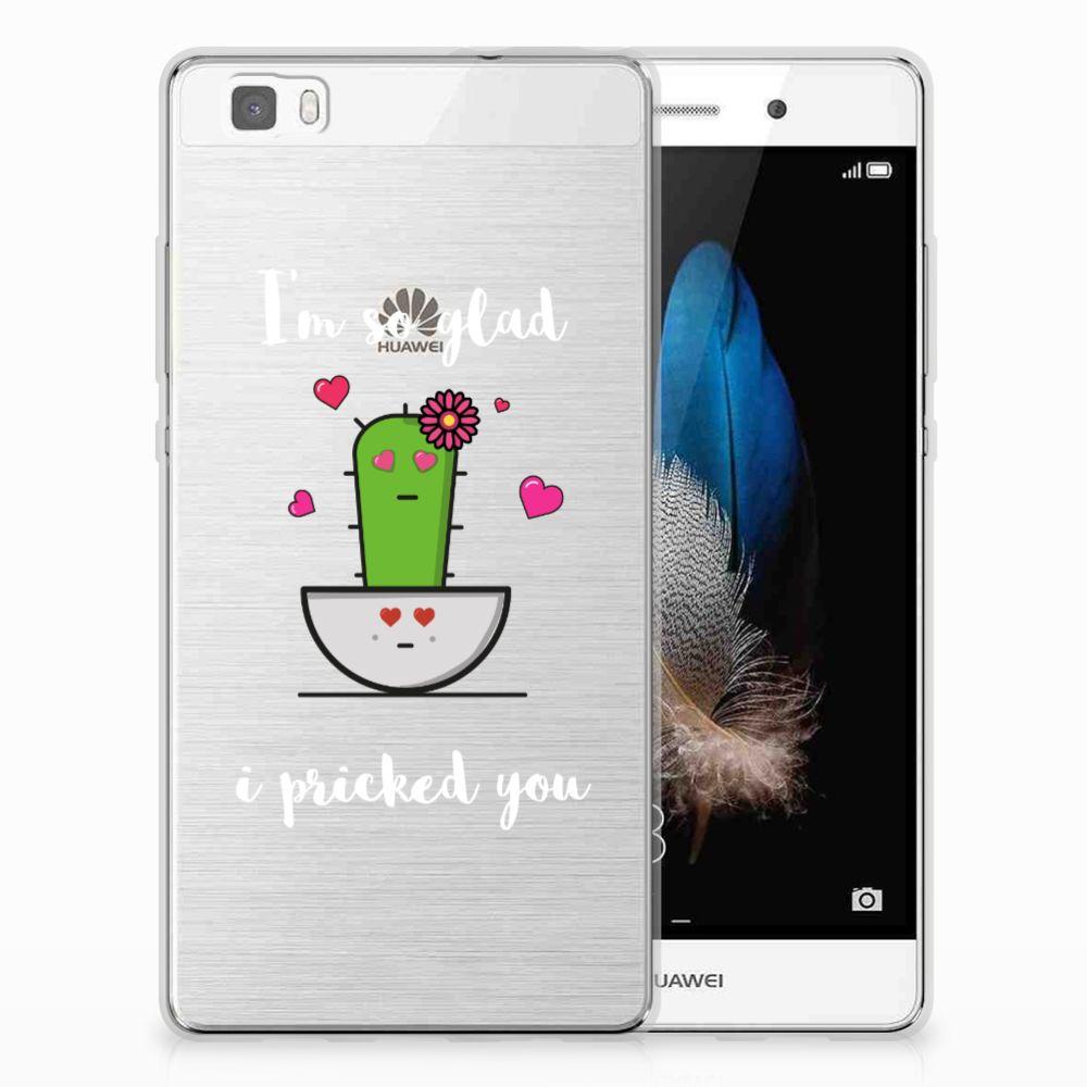Huawei Ascend P8 Lite Telefoonhoesje met Naam Cactus Glad