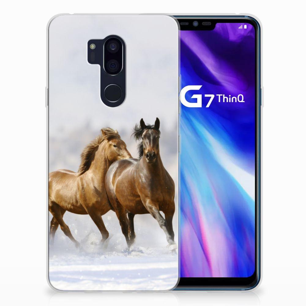 LG G7 Thinq TPU Hoesje Paarden