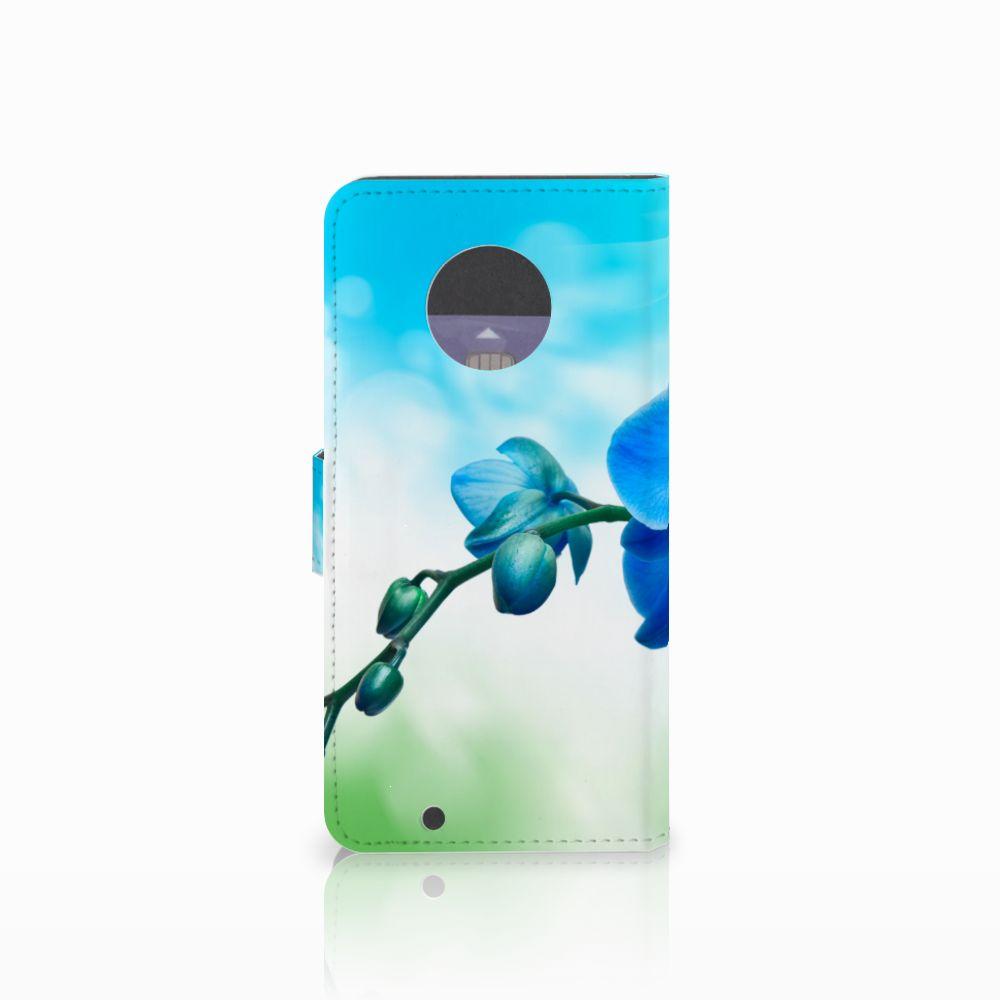 Motorola Moto G6 Hoesje Orchidee Blauw