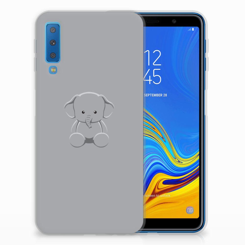 Samsung Galaxy A7 (2018) Uniek TPU Hoesje Baby Olifant