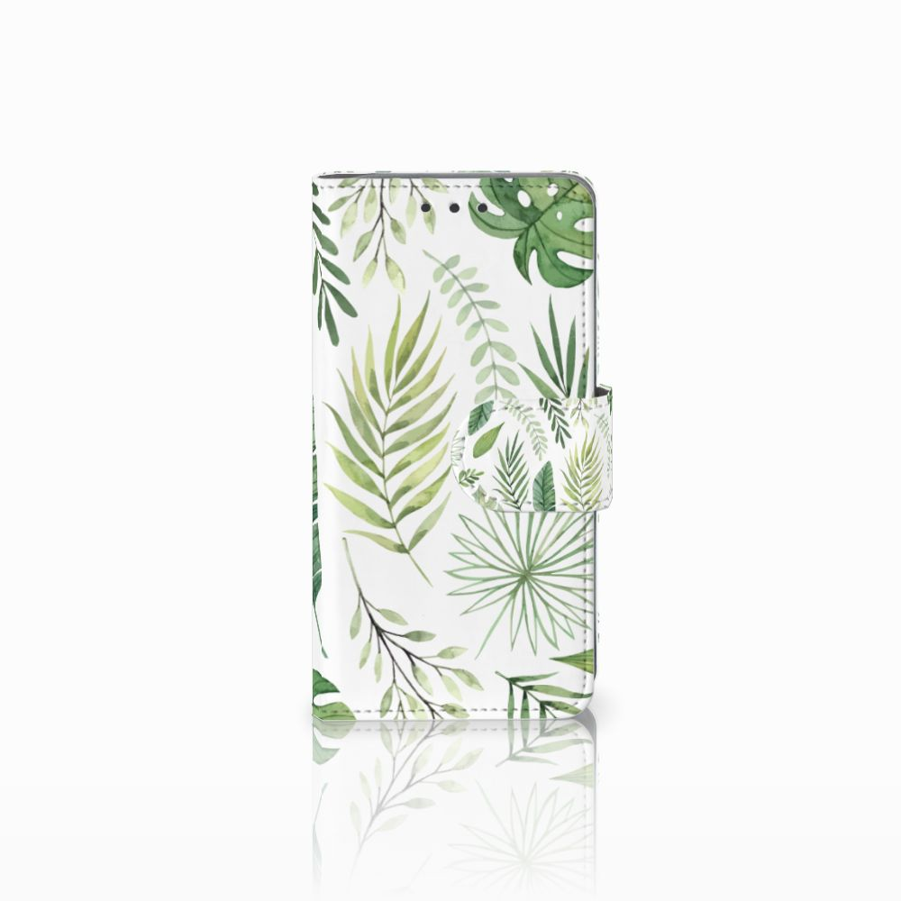 Samsung Galaxy A3 2015 Uniek Boekhoesje Leaves