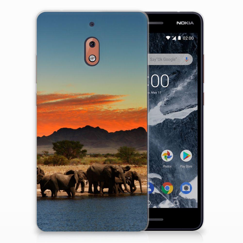 Nokia 2.1 (2018) TPU Hoesje Design Olifanten