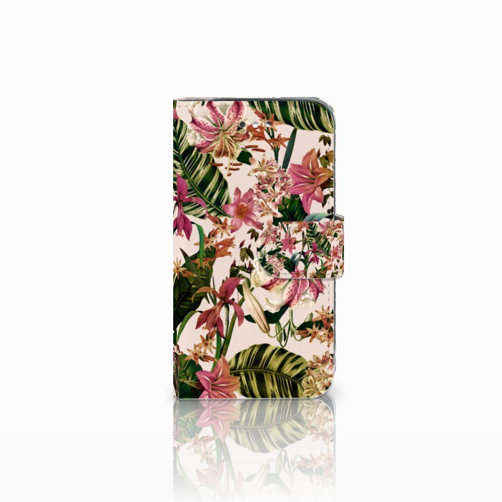 Samsung Galaxy S4 Uniek Boekhoesje Flowers