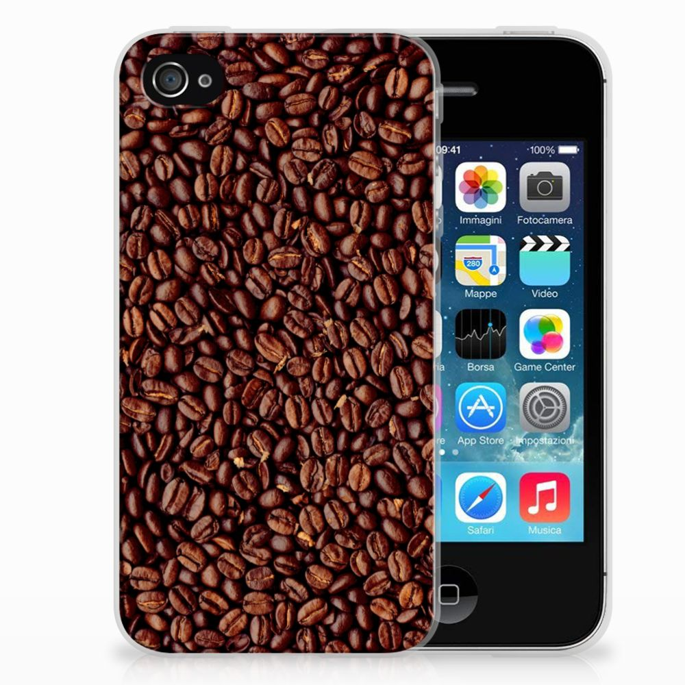 Apple iPhone 4 | 4s Siliconen Case Koffiebonen