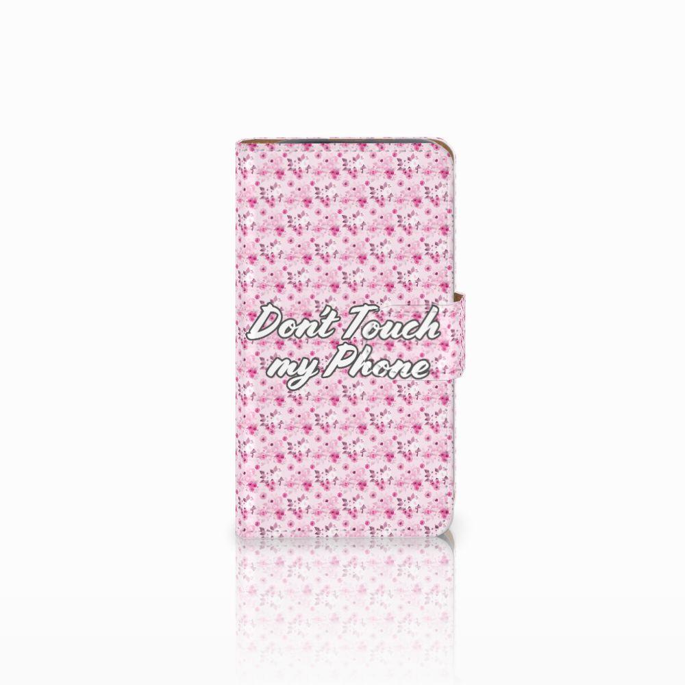 HTC Desire 310 Uniek Boekhoesje Flowers Pink DTMP