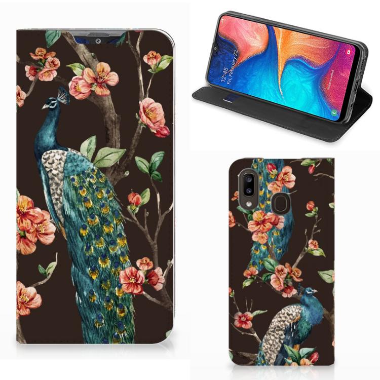 Samsung Galaxy A30 Hoesje maken Pauw met Bloemen