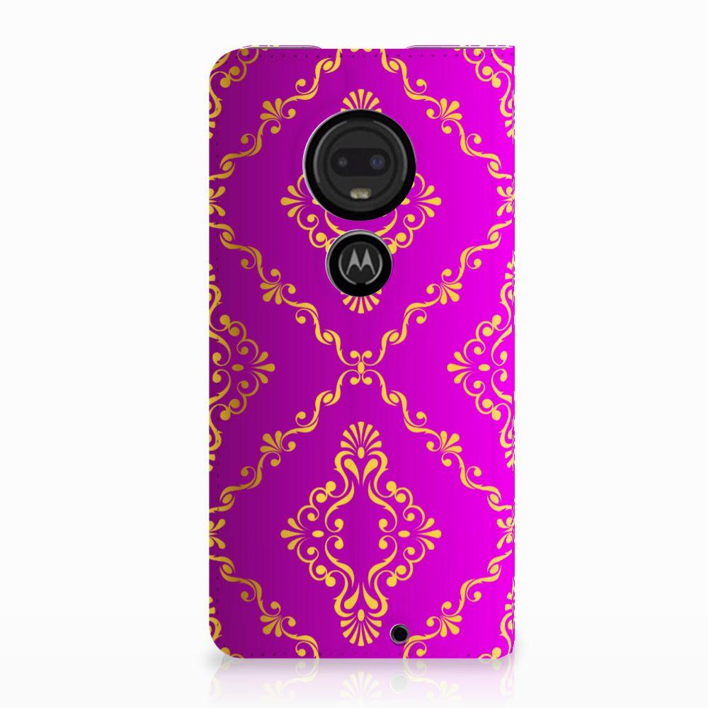 Motorola Moto G7 | G7 Plus Uniek Standcase Hoesje Barok Roze